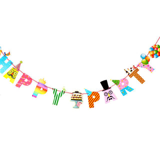 Birthday Party Banners Cartoon HAPPY BIRTHDAY PARTY