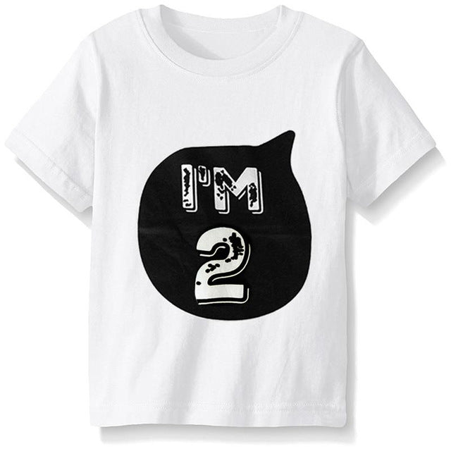 I'm 1  or I'm 2 Years Boys & Girls T Shirt