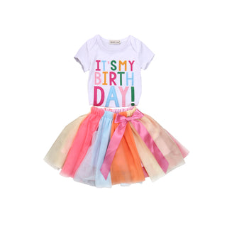 2PCS  Birthday outfit