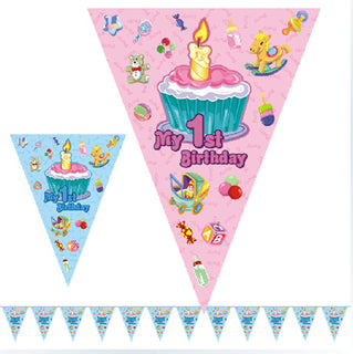 2.5 Meter My 1st Birthday  Flag Party Decoration Banner