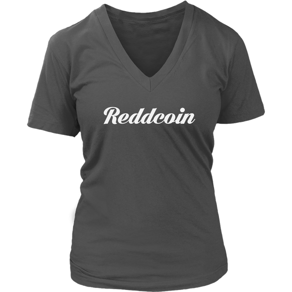 Reddcoin V-Neck Caligraphy shirt