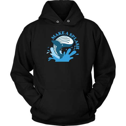 Blue Whale Splash Hoodie (Multi-Color)-T-shirt-CryptoBird