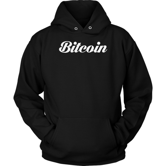 Bitcoin Calligraphy Hoodie (Multi-Color)-T-shirt-Onyx Black-S-CryptoBird