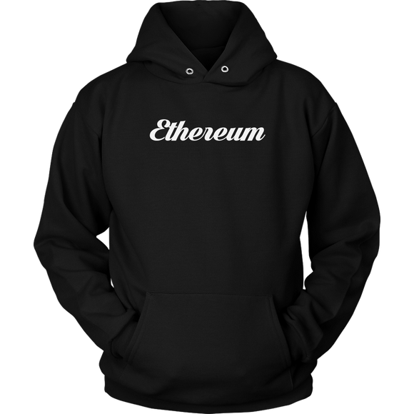 Ethereum Calligraphy Hoodie (Multi-Color)-T-shirt-Onyx Black-S-CryptoBird