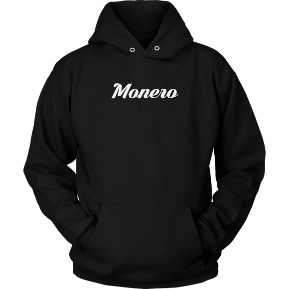 Monero Calligraphy Hoodie (Multi-Color)-T-shirt-Onyx Black-S-CryptoBird
