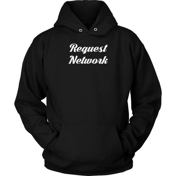 Request Network Calligraphy Hoodie (Multi-Color)-T-shirt-Onyx Black-S-CryptoBird