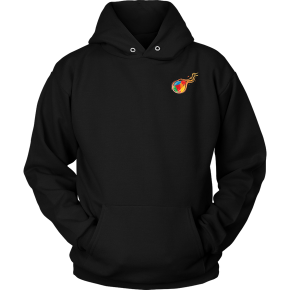 Reddcoin Fire subtle Hoodie (Multi-Color)-T-shirt-Onyx Black-S-CryptoBird