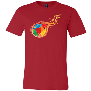 Reddcoin Fire Shirt (Multi-Color)-T-shirt-Reddcoin Red-S-CryptoBird