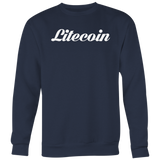 Litecoin Calligraphy Crewneck (Multi-Color)-T-shirt-CryptoBird