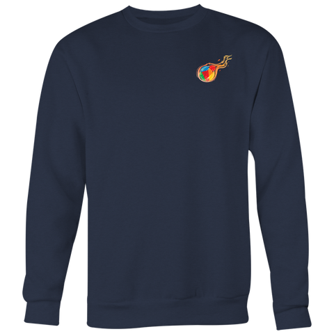 Reddcoin Fire subtle Crewneck (Multi-Color)-T-shirt-CryptoBird