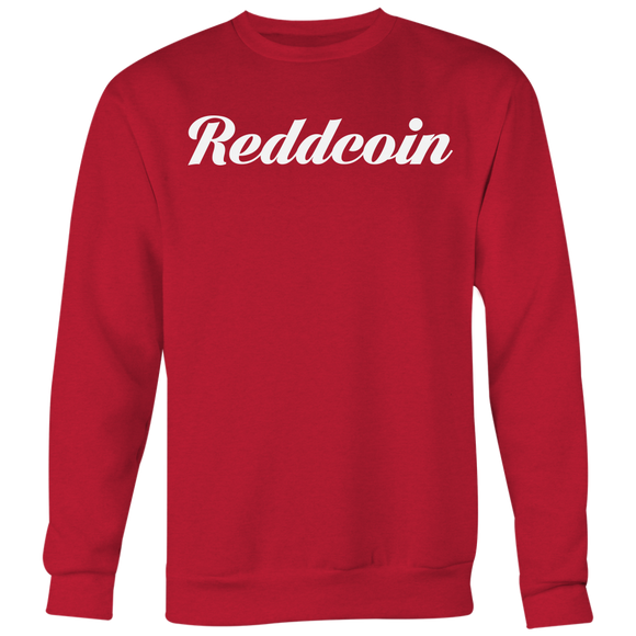 Reddcoin Calligraphy Crewneck (Multi-Color)-T-shirt-Ruby Red-S-CryptoBird