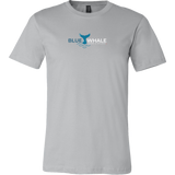 Blue Whale Splash Shirt-T-shirt-Canvas Mens Shirt-Silver-S-CryptoBird