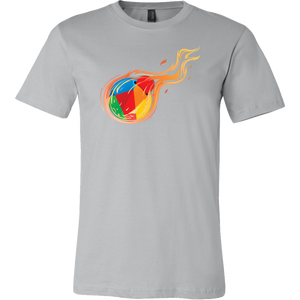 Reddcoin Fire Shirt (Multi-Color)-T-shirt-Ash Grey-S-CryptoBird