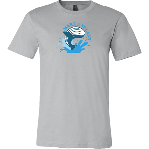 Blue Whale Splash shirt (Multi-Color)-T-shirt-CryptoBird