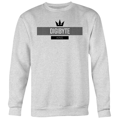 Digibyte Black King Sweater (multi-color)-T-shirt-Heather Grey-S-CryptoBird