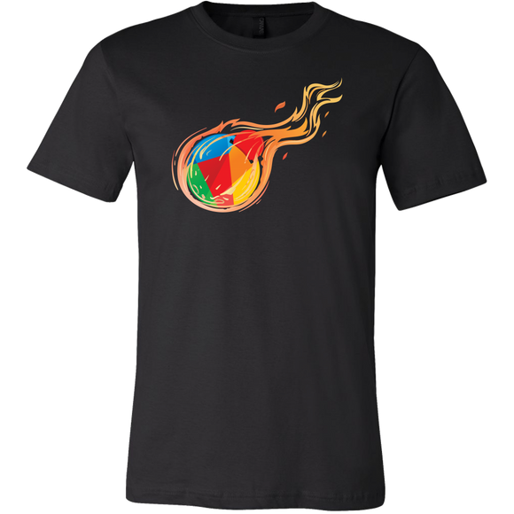Reddcoin Fire Shirt (Multi-Color)-T-shirt-Onyx Black-S-CryptoBird