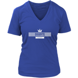 DGB White V-Neck Queen-T-shirt-CryptoBird