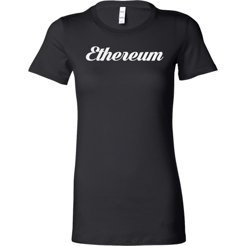 Ethereum Caligraphy Bella Shirt-T-shirt-CryptoBird