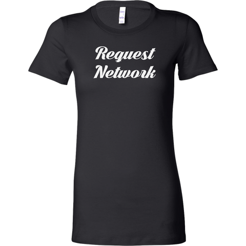 Request Network Caligraphy Bella Shirt-T-shirt-CryptoBird