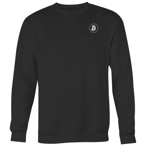 Bitcoin Crewneck Onyx Black-T-shirt-CryptoBird
