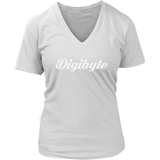 Digibyte V-Neck Caligraphy shirt-T-shirt-CryptoBird