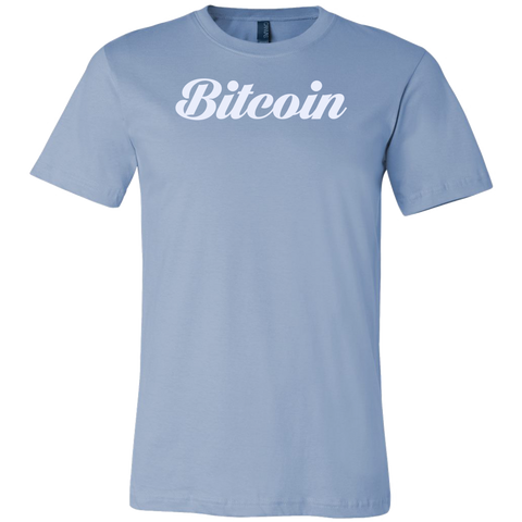 Bitcoin Calligraphy Shirt Ice Blue-T-shirt-CryptoBird