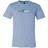 Blue Whale Splash Shirt-T-shirt-Canvas Mens Shirt-Baby Blue-S-CryptoBird