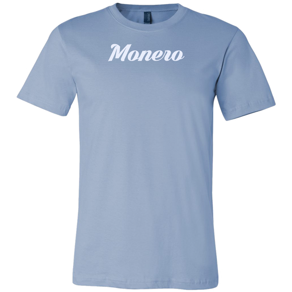 Monero Calligraphy Shirt Ice Blue-T-shirt-Ice Blue-S-CryptoBird