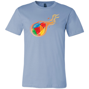 Reddcoin Fire Shirt (Multi-Color)-T-shirt-Ice Blue-S-CryptoBird