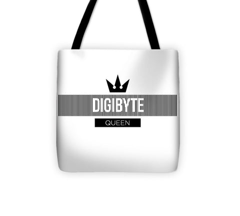 Digibyte Queen - Tote Bag-Tote Bag-CryptoBird