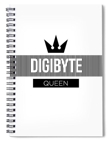 Digibyte Queen - Spiral Notebook-Spiral Notebook-CryptoBird