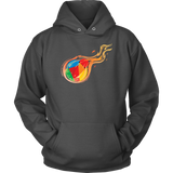 Reddcoin Fire Hoodie (Multi-Color)-T-shirt-CryptoBird