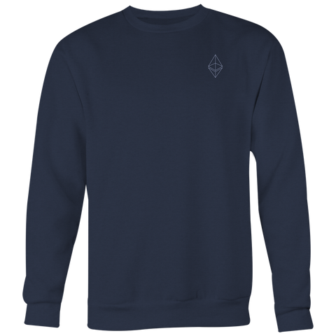 Ethereum Crewneck Navy Blue-T-shirt-CryptoBird