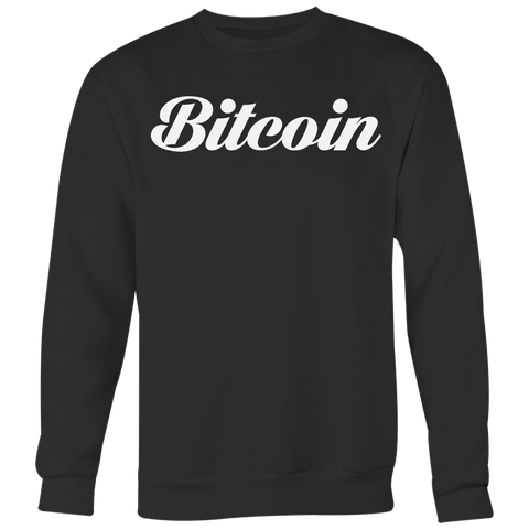 Bitcoin Calligraphy Crewneck (Multi-Color)-T-shirt-CryptoBird
