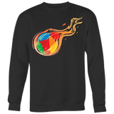 Reddcoin Fire Crewneck (Multi-Color)-T-shirt-CryptoBird