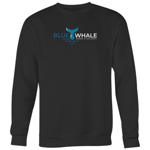 Blue Whale Splash Crewneck-T-shirt-CryptoBird