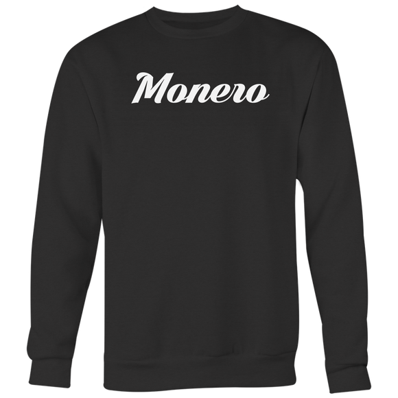 Monero Calligraphy Crewneck (Multi-Color)-T-shirt-Onyx Black-S-CryptoBird