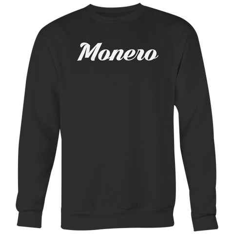 Monero Calligraphy Crewneck (Multi-Color)-T-shirt-CryptoBird