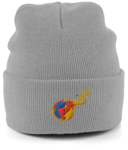 Reddcoin Fire Beanie (10 colors!)-Embroidered Hats-Light Grey-CryptoBird