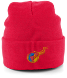 Reddcoin Fire Beanie (10 colors!)-Embroidered Hats-Classic red-CryptoBird