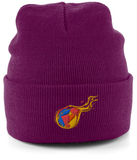 Reddcoin Fire Beanie (10 colors!)-Embroidered Hats-Burgundy-CryptoBird