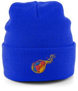 Reddcoin Fire Beanie (10 colors!)-Embroidered Hats-Bright Royal-CryptoBird