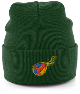 Reddcoin Fire Beanie (10 colors!)-Embroidered Hats-Forest Green-CryptoBird