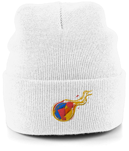 Reddcoin Fire Beanie (10 colors!)-Embroidered Hats-White-CryptoBird