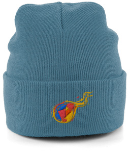 Reddcoin Fire Beanie (10 colors!)-Embroidered Hats-Airforce Blue-CryptoBird