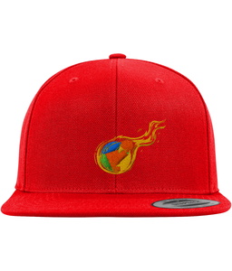 RDD Fire Snapback-Embroidered Hats-Red-CryptoBird