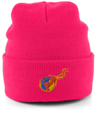 Reddcoin Fire Beanie (10 colors!)-Embroidered Hats-Barbie Pink-CryptoBird