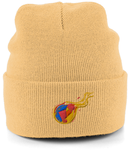 Reddcoin Fire Beanie (10 colors!)-Embroidered Hats-Sand-CryptoBird