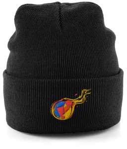 Reddcoin Fire Beanie (10 colors!)-Embroidered Hats-Onyx Black-CryptoBird