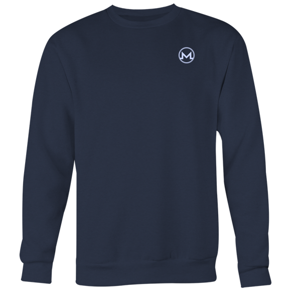 Monero Crewneck Navy Blue-T-shirt-Navy Blue-S-CryptoBird